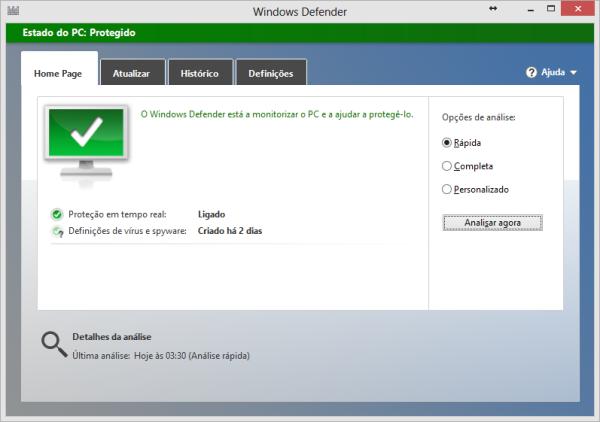 Windows Defender no Windows 8